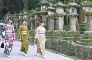 Planning a Trip to Japan Nara Shrine Kimono
